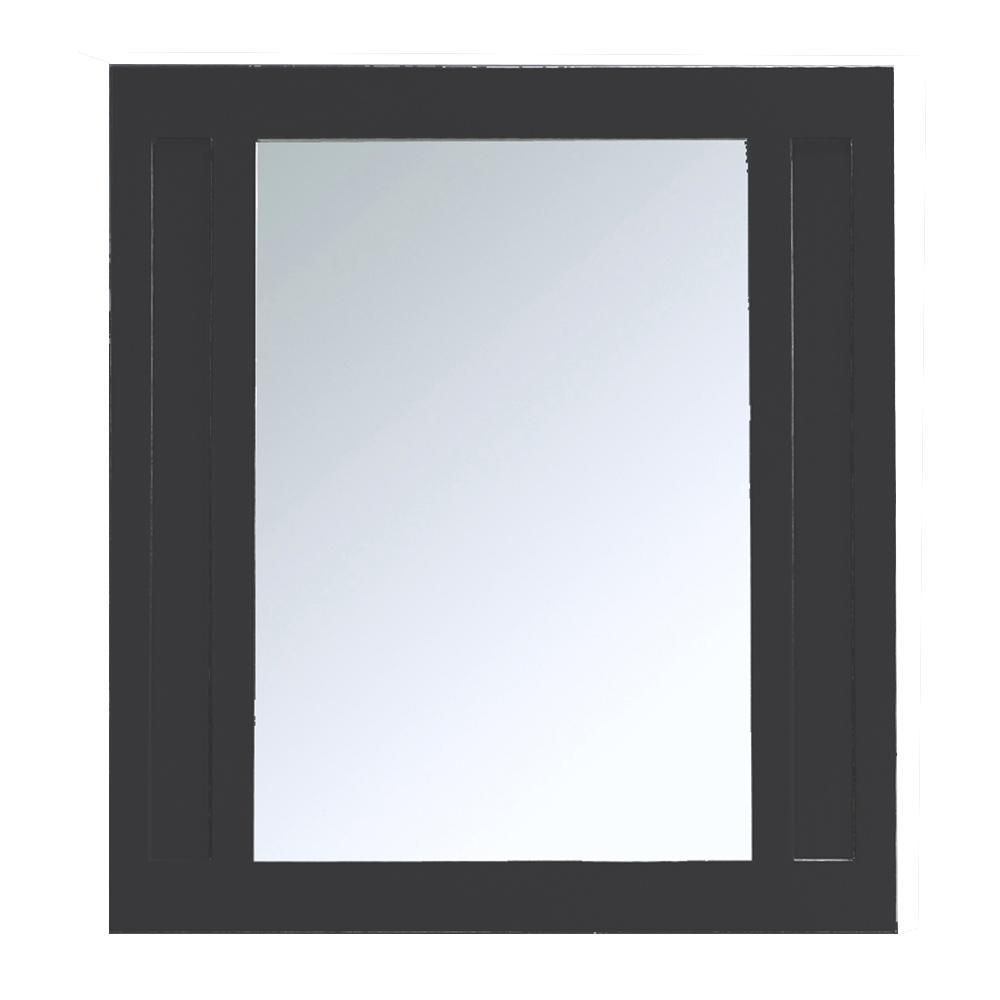 Aberdeen 36 in. x 33 in. Framed Wall Mirror in Black