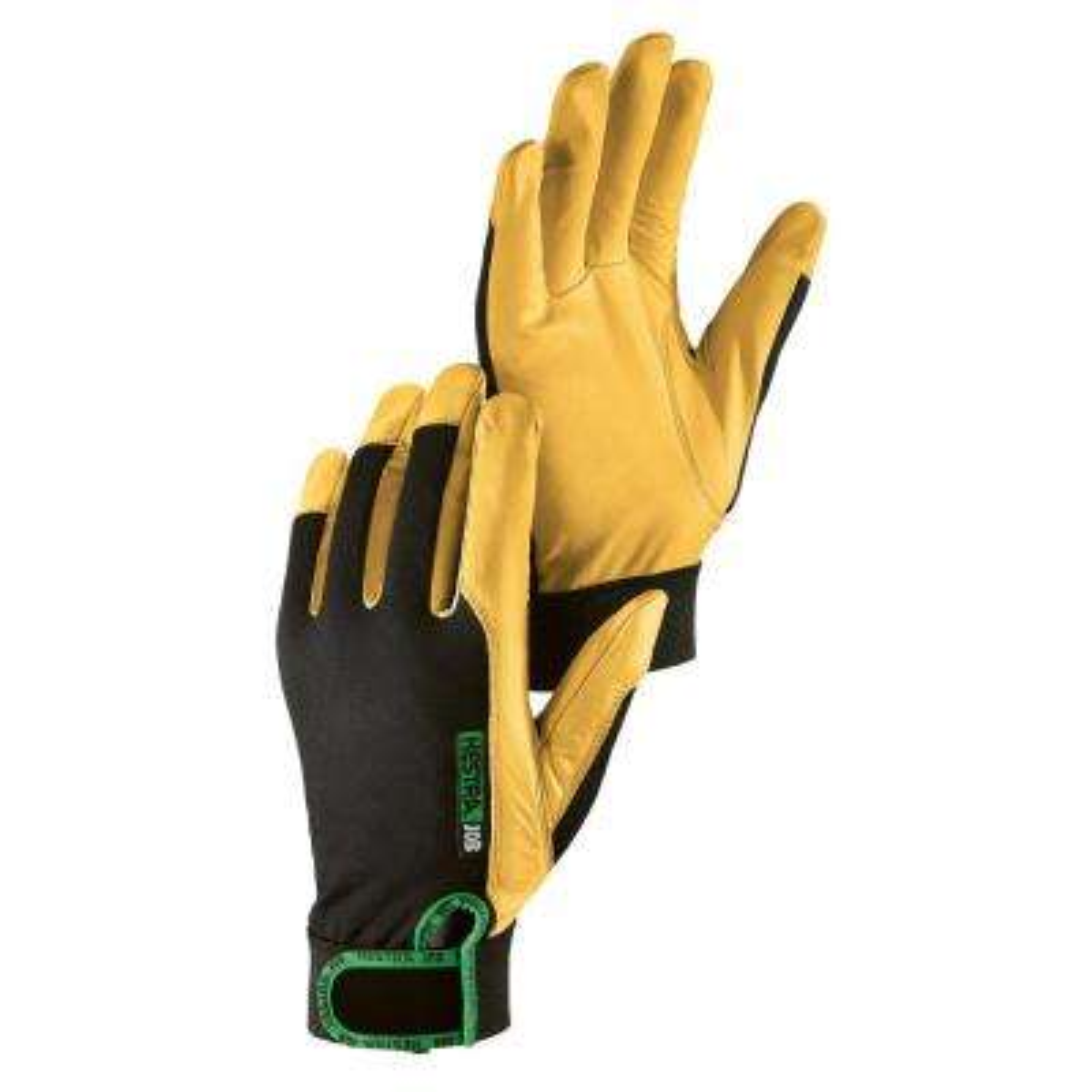 Hestra Garden Gloves Womens Kobalt Leather Work Gloves Green 9