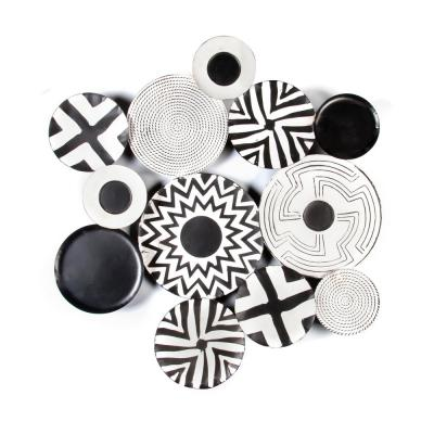 Metal Black and White Abstract Wall Art