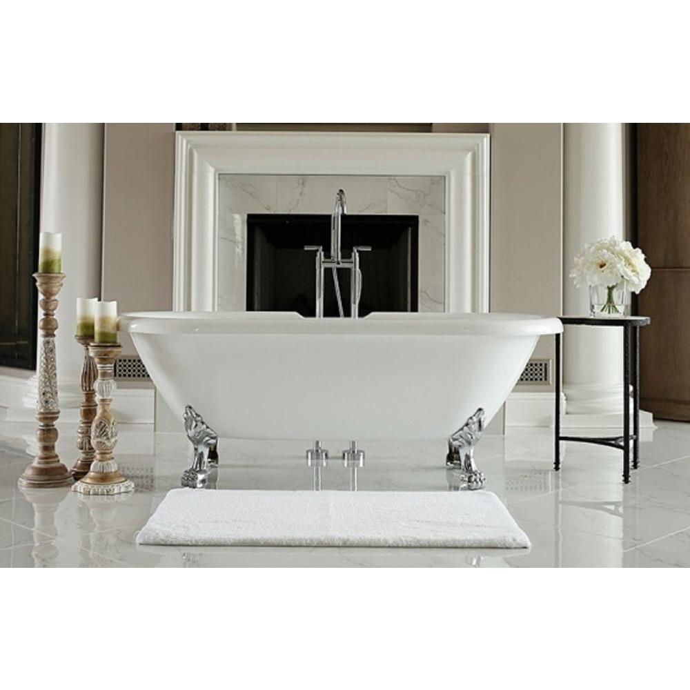 6 ft freestanding tub. null Restore 6 ft  Acrylic Clawfoot Free Standing Non Whirlpool Tub Oval