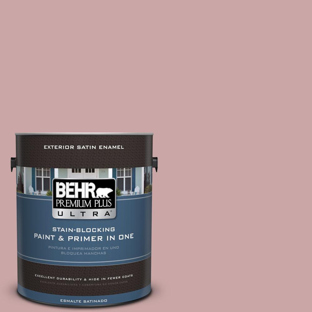 BEHR Premium Plus Ultra 1-gal. #140E-3 Rose Bisque Satin Enamel Exterior Paint