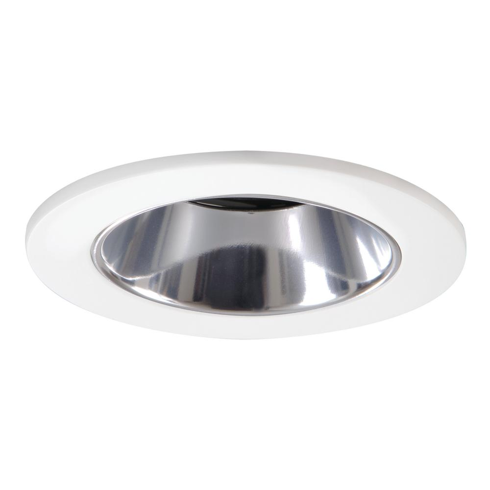White Recessed Ceiling Light Shower Trim with Regressed Lens and Clear Reflector  sc 1 st  The Home Depot & Halo 3 in. White Recessed Ceiling Light Shower Trim with Regressed ... azcodes.com