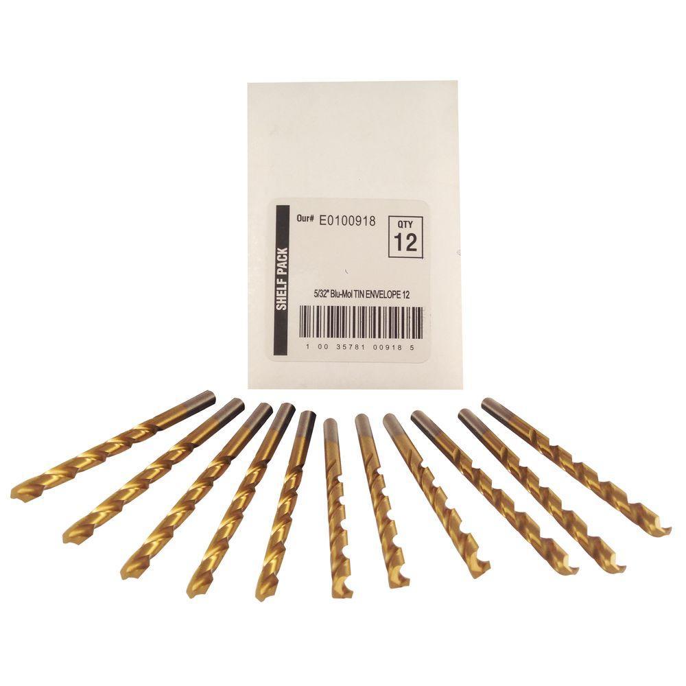 5/32 in. Diameter Titanium Jobber Drill Bit (12-Pack)