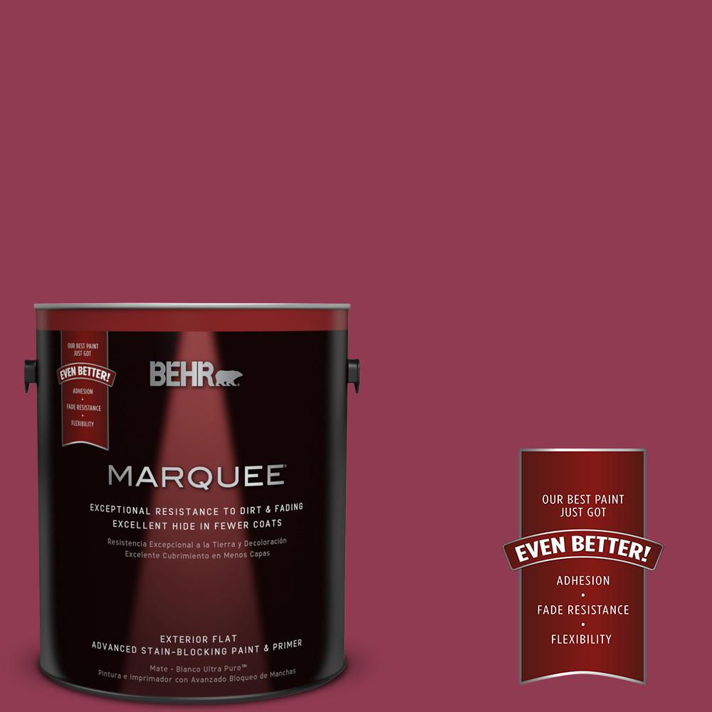 BEHR MARQUEE 1-gal. #120D-6 Cranberry Splash Flat Exterior Paint