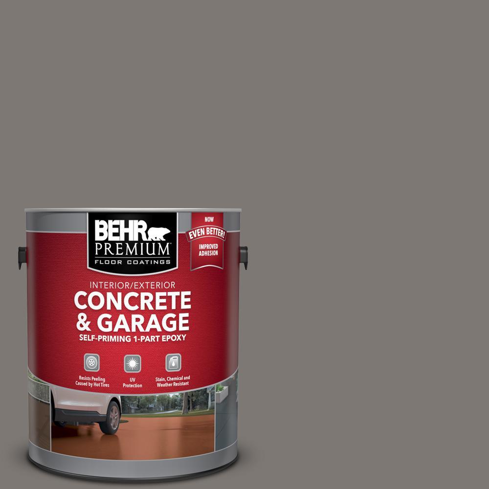 BEHR Premium 1 gal. #PFC-74 Tarnished Silver Self-Priming 1-Part Epoxy Satin Interior/Exterior Concrete and Garage Floor Paint
