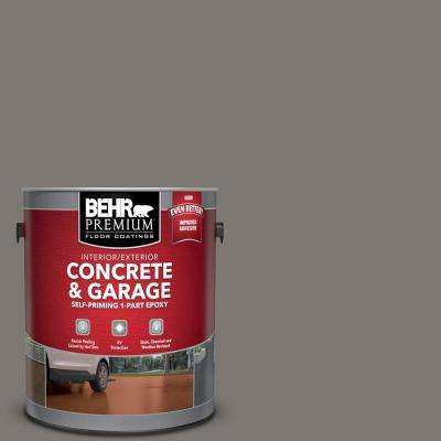1 gal. #PFC-74 Tarnished Silver Self-Priming 1-Part Epoxy Satin Interior/Exterior Concrete and Garage Floor Paint
