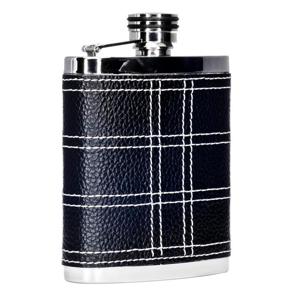 Formal Black and White Liquor Flask