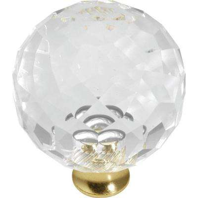 crystal furniture knobs. Crystal Palace 1-9/16 In. Crysacrylic Polished Brass Cabinet Knob Furniture Knobs