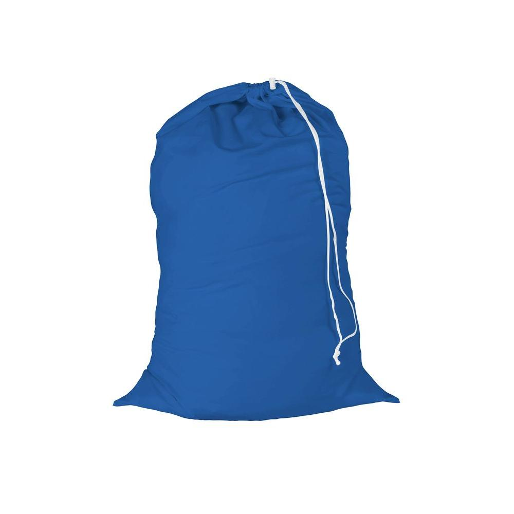 24 in. x 36 in. Cotton Laundry Bag in Blue (2-Pack)