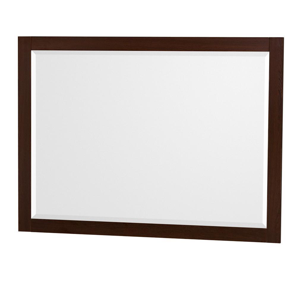 Daniella 46 in. W x 33 in. H Framed Wall Mirror in Espresso