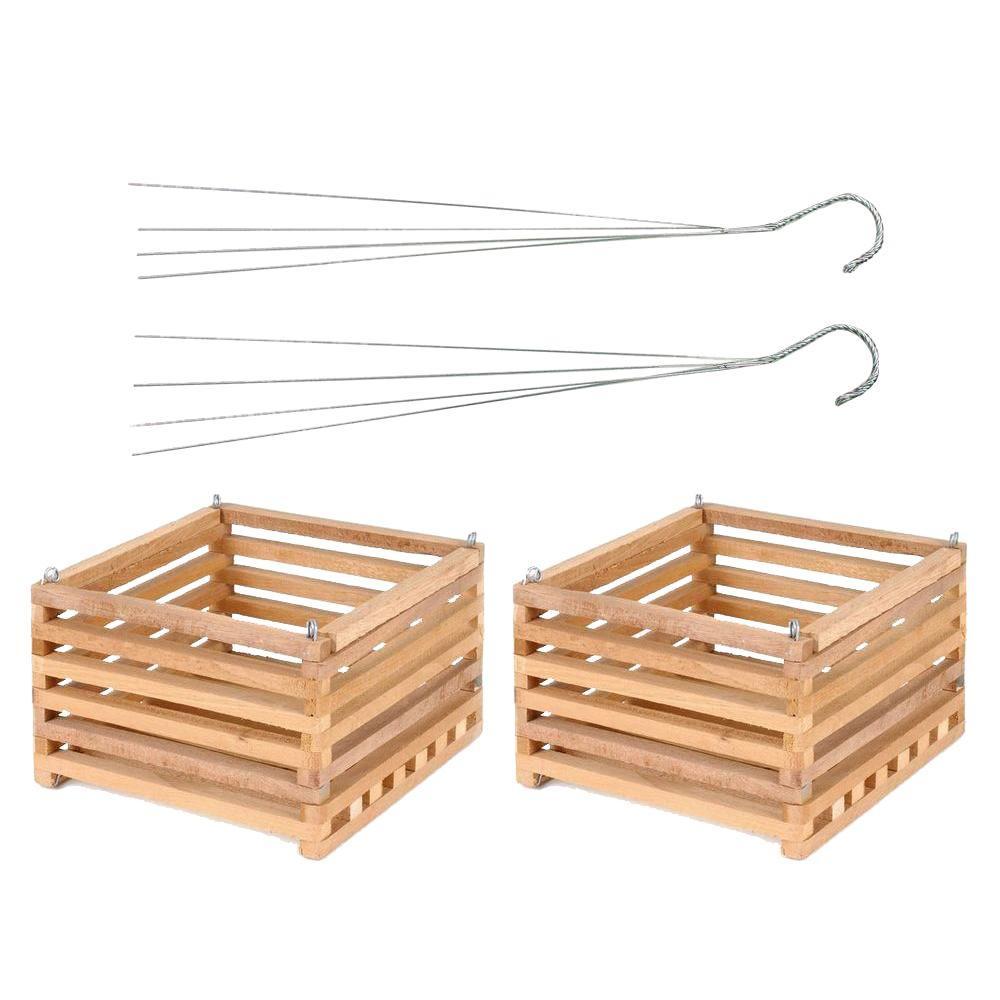Better-Gro Cedar Slat Vanda Basket 12 inch square