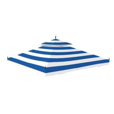 Standard 350 Cabana Blue Replacement Canopy for 10 ft. x 10 ft. Arrow Gazebo