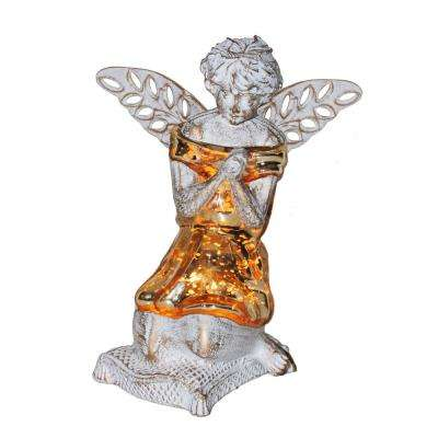 Gold praying angel accent lamp