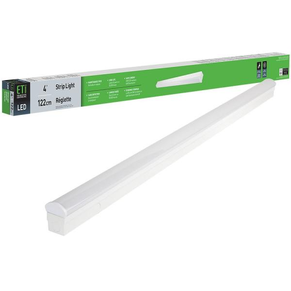 4 ft. 64-Watt Equivalent Integrated LED White Strip Light Fixture 4000K Bright White 3600 Lumens Direct Wire 120V - 277V