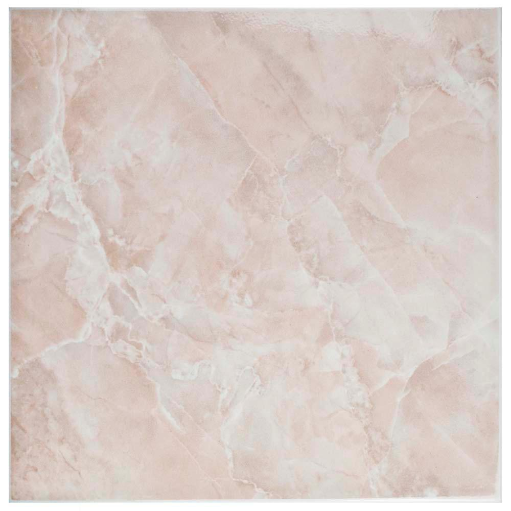 Merola Tile Gamma Rosa 11 34 In X 11 34 In Ceramic Floor And