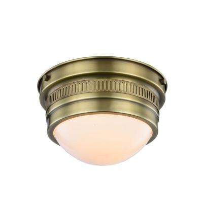 Pria 1-Light Burnished Brass Flush Mount