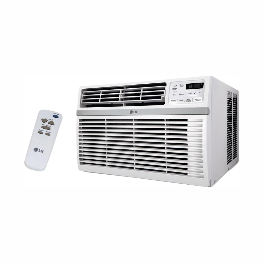 LG Electronics 8,000 BTU Window Smart (Wi-Fi) Air Conditioner with Remote, ENERGY STAR in White