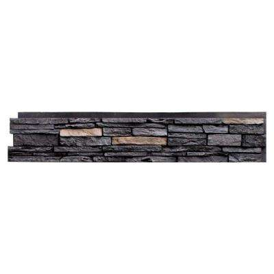 Slatestone Onyx 8.25 in. x 43 in. Faux Stone Siding Panel (8-Pack)