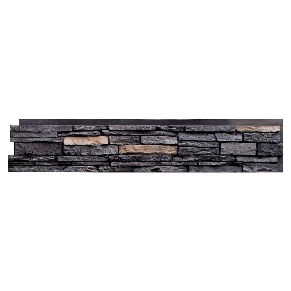 Slatestone Onyx 8.25 in. x 43 in. Faux Stone Siding Panel (8-Pack)
