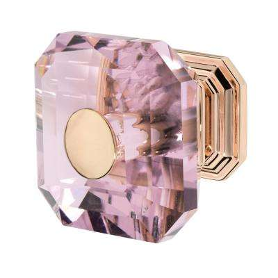 Clubhouse 1-5/16 in. Rose Gold with Pink Crystal Cabinet Knob