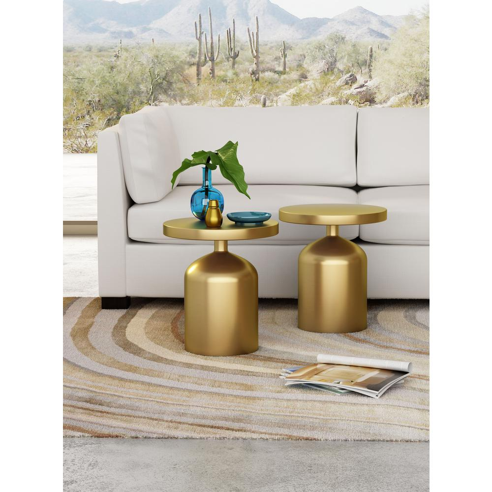 Superior ZUO Kendal Brass Accent Table