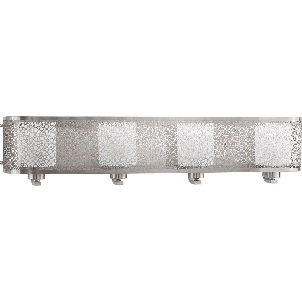 Progress Lighting Mingle Collection 4 Light Brushed Nickel Vanity Image Is Loading Hampton Bay