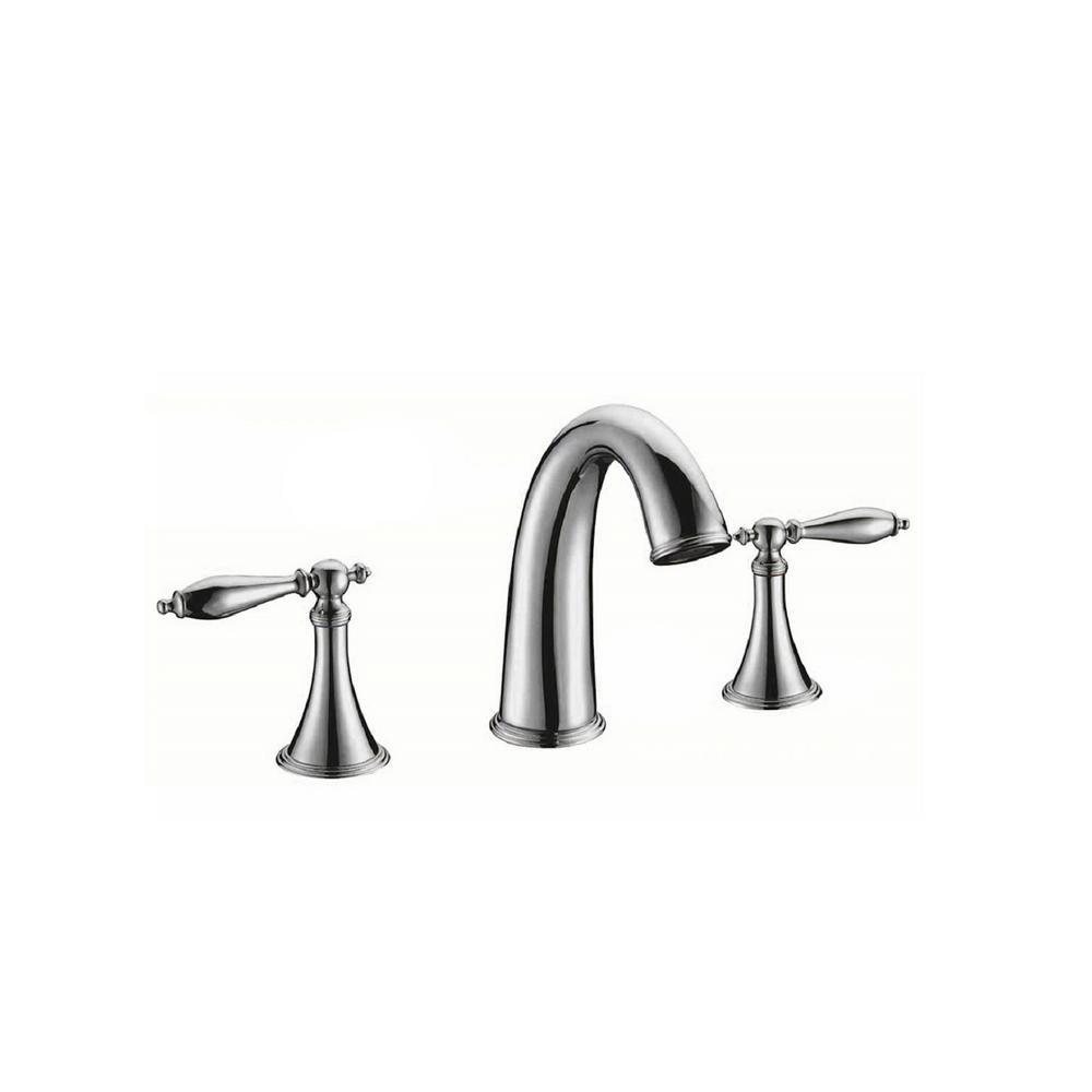 Luxurious 8 in. Widespread 2-Handle Bathroom Faucet in Chrome