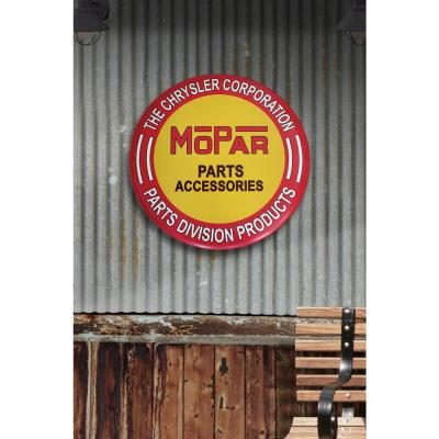 24 in. x 24 in. Mopar Hollow Curved Tin Button Sign