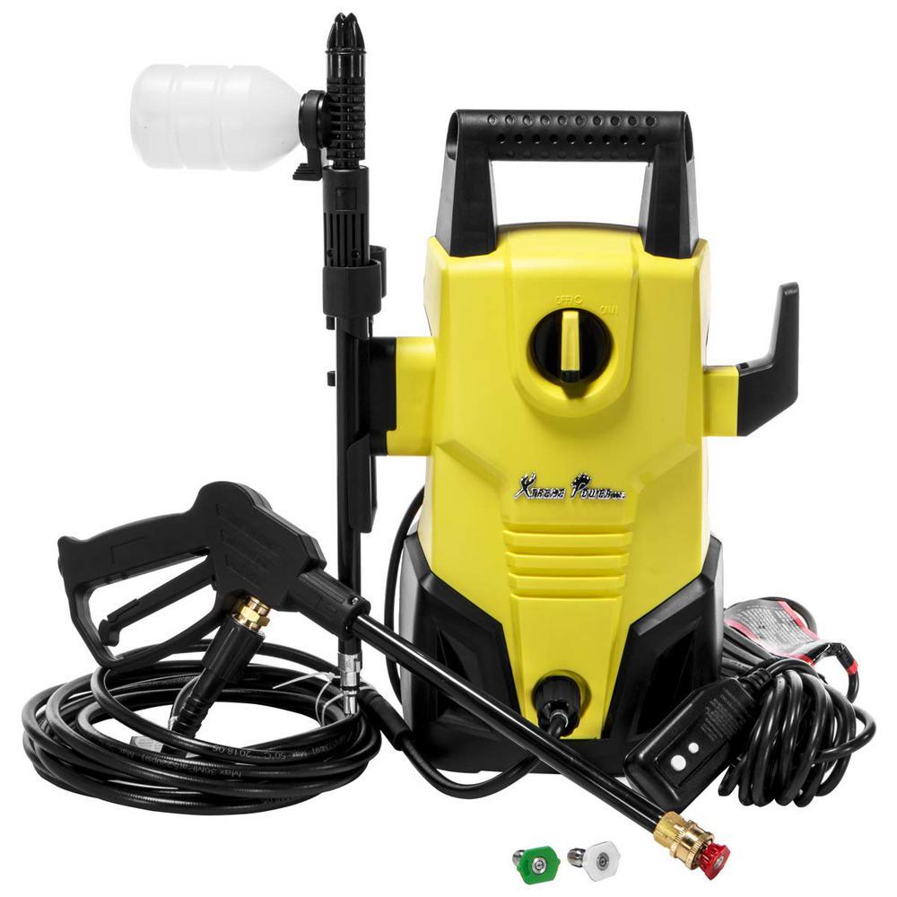 1300 PSI 1.2 GPM Mini Electric Pressure Washer with Spray Gun, Reel Hose, Max Jet XP2000S