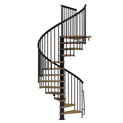 Nice1 63 in. Black Spiral Staircase Kit