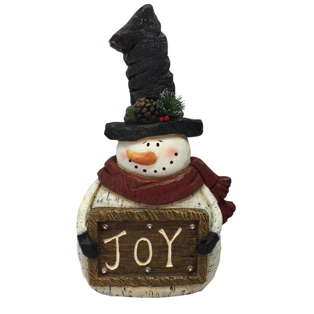 Christmas Statue Decorations: Alpine Corporation 18 In. H Christmas Snowman With Joy