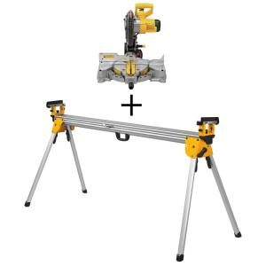 15 Amp Corded 10 in. Compound Single Bevel Miter Saw with Bonus Heavy-Duty Miter Saw Stand