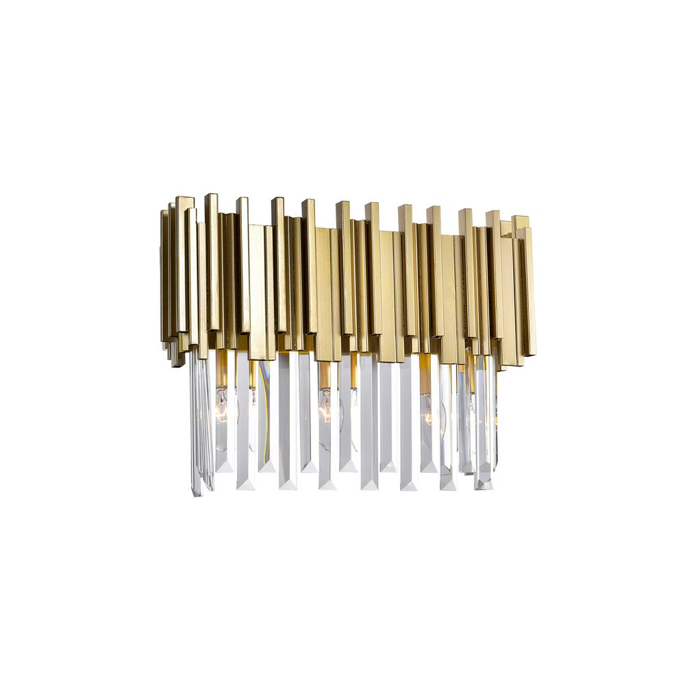 CWI Lighting Deco Collection 17 in. Medallion Gold Sconce