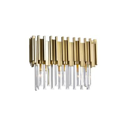 Deco Collection 17 in. Medallion Gold Sconce