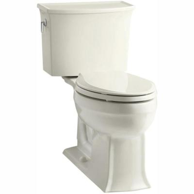 Archer Comfort Height 2-piece 1.28 GPF Single Flush Elongated Toilet with AquaPiston Flushing Technology in Biscuit