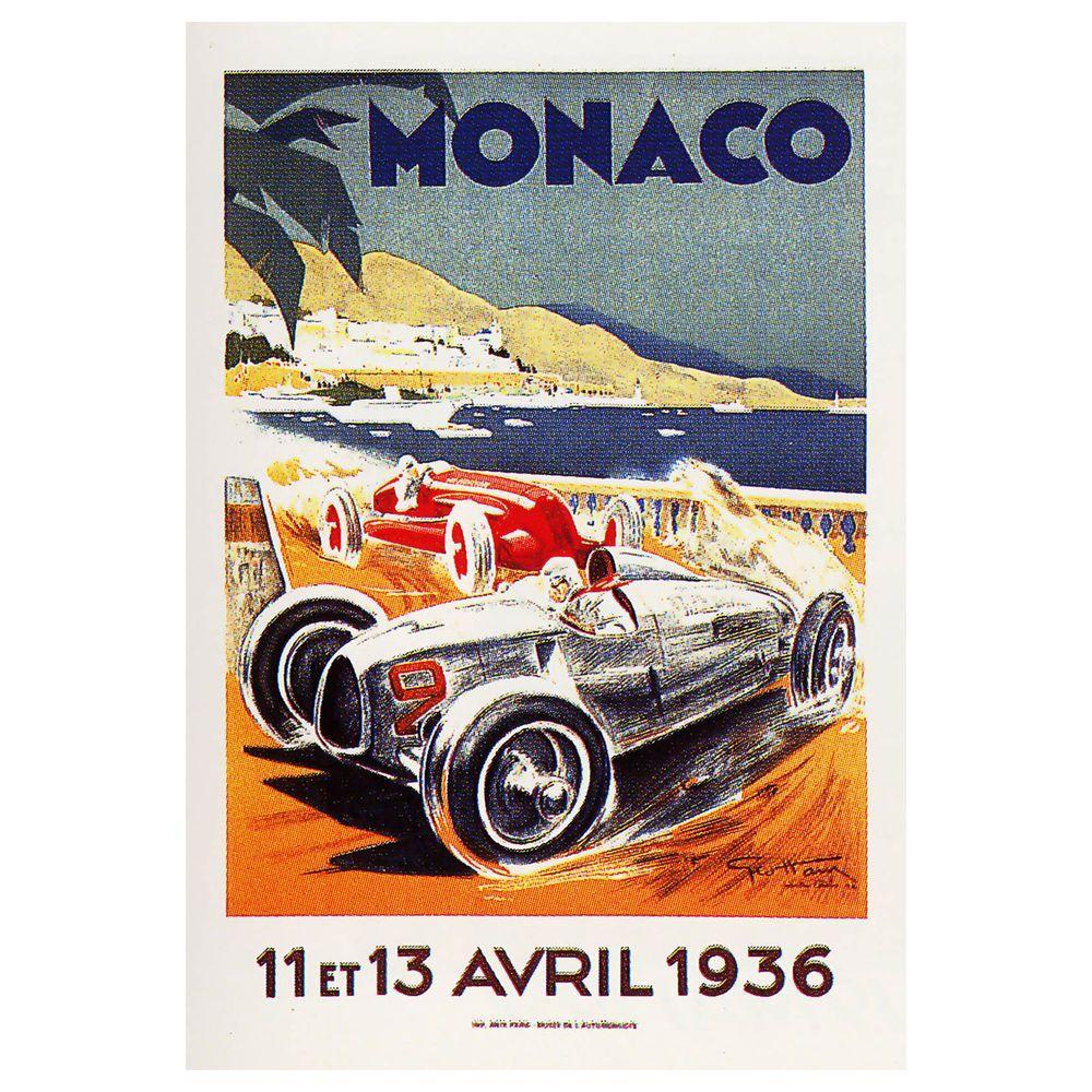 22 in. x 32 in. Monaco 13 Avril 1936 Canvas Art