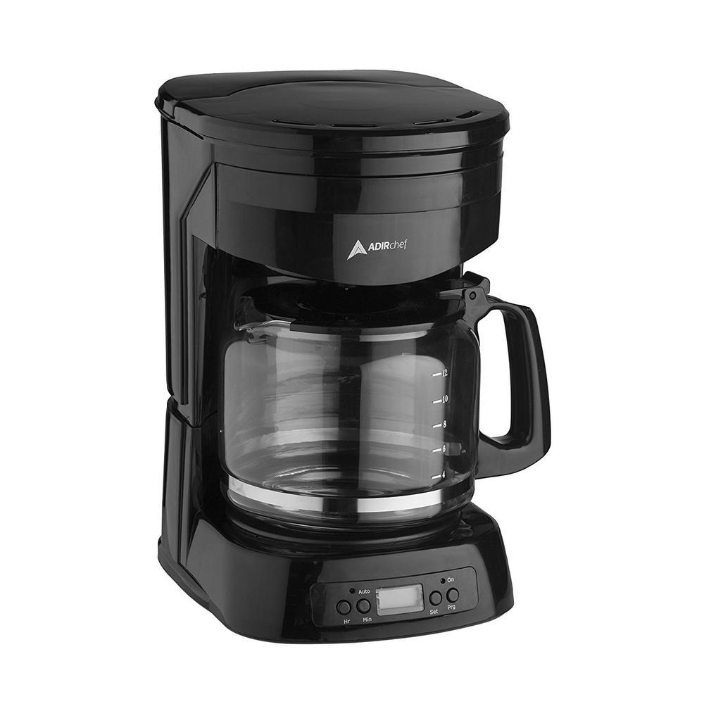 AdirChef 12-Cup Programmable Auto Shutoff Coffee Maker 800-12-BLK