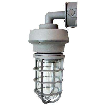 10-Watt Gray Outdoor Integrated LED Wall Mount Vapor Tight Sconce