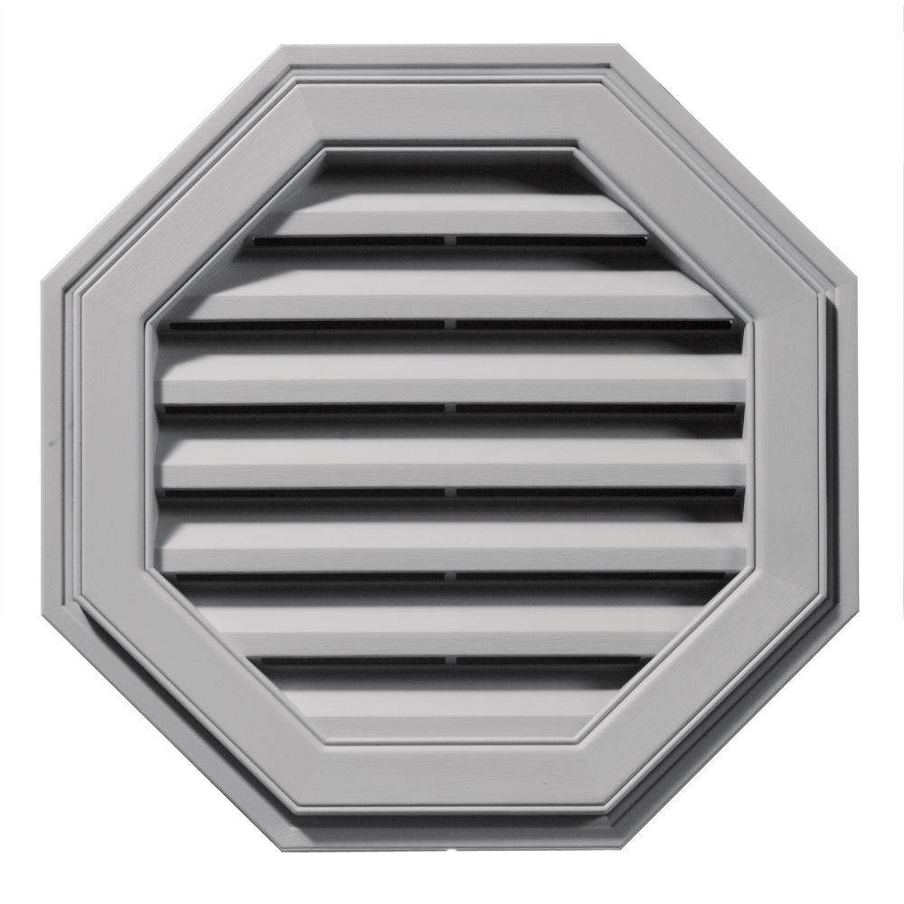 Builders Edge 22 in. Octagon Gable Vent in Gray