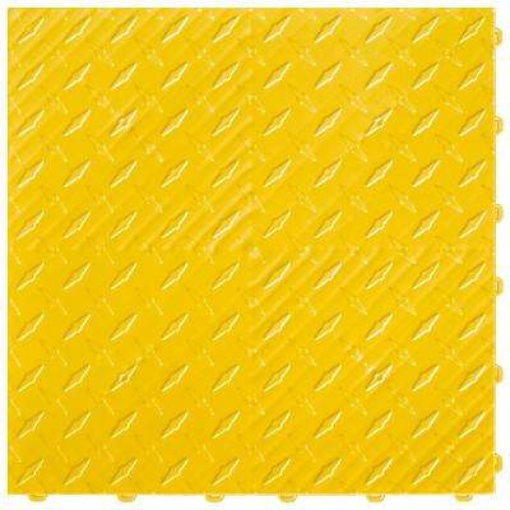 15.75 in. x 15.75 in. Citrus Yellow Diamond Trax 9-Tile Modular Flooring Pack (15.5 sq. ft. / case)