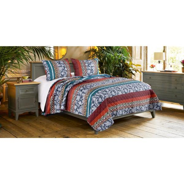 Barefoot Bungalow Vista 3-Piece Full/Queen Quilt Set GL-1809EMSQ