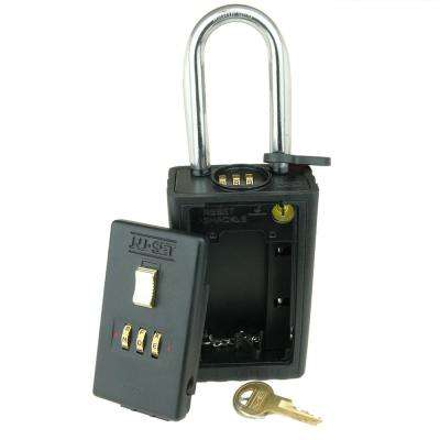 3 Letter Alpha Combination Lock Box with Combo Locking Shackle