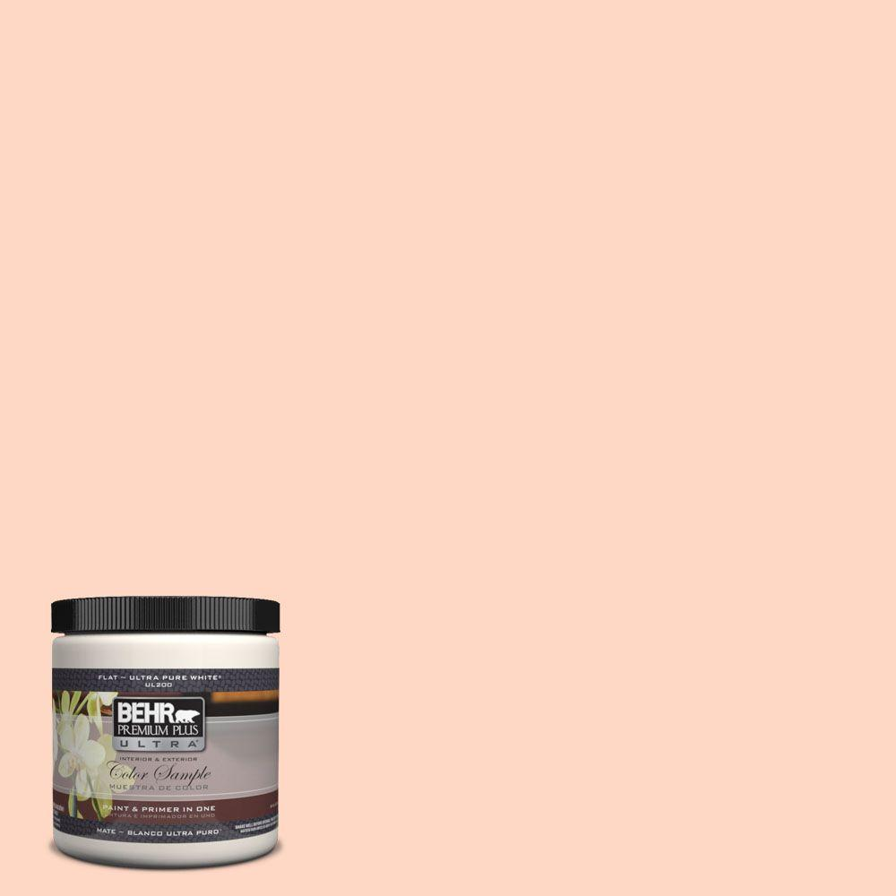 BEHR Premium Plus Ultra 8 oz. #230C-2 Shell Coral Interior/Exterior Paint Sample
