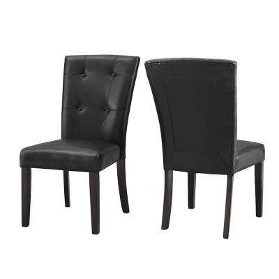 Francis Tufted Black Side Chair  (Set of 2)