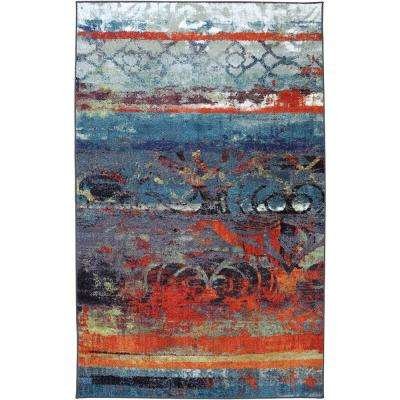Eroded Multi 7 ft. 6 in. x 10 ft. Indoor Area Rug
