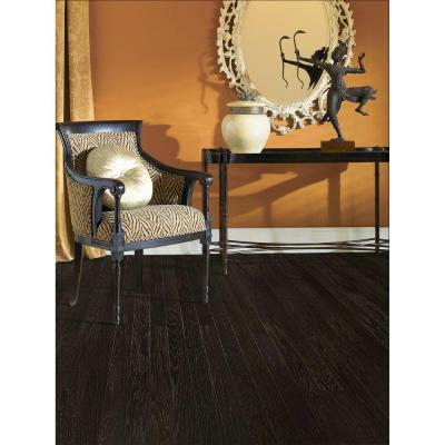 Brushed Hickory Ebony 3/4 in. Thick x 4 in. Wide x Random Length Solid Hardwood Flooring (21 sq. ft. / case)