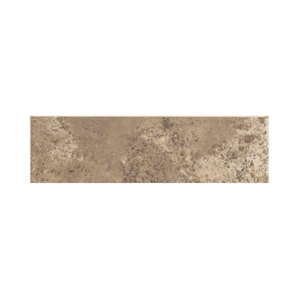 Stratford Place Truffle 3 in. x 12 in. Ceramic Bullnose Wall