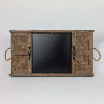 Wood Plaque with Blackboard Home Accent