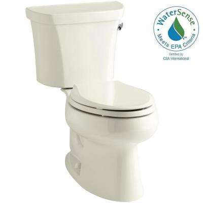 Wellworth 2-piece 1.28 GPF Single Flush Elongated Toilet in Biscuit