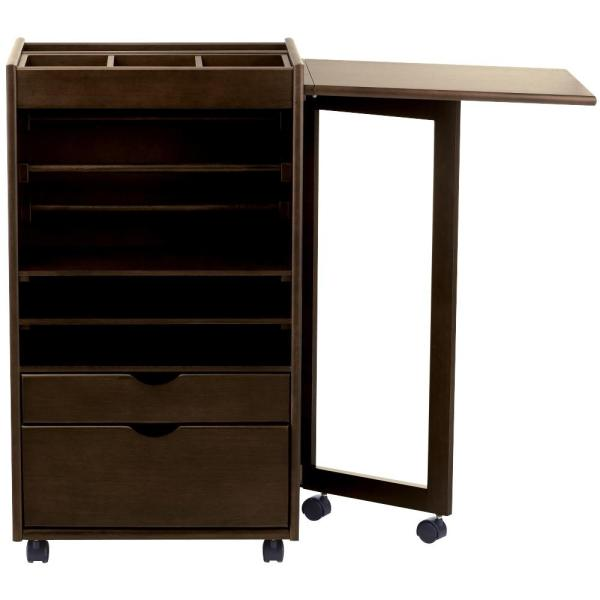 Home Decorators Collection Stanton Chestnut Deluxe Wrapping Storage Cart (21.25